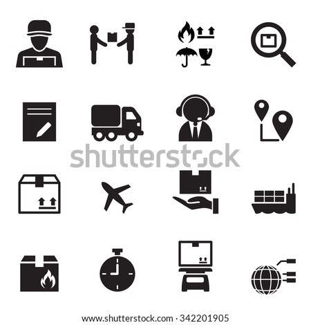 Shipping & Logistics icons set