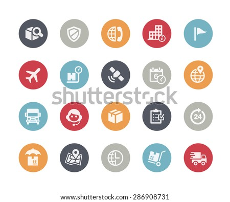 Shipping & Tracking Icons // Classics Series - stock vector
