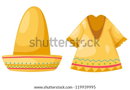Shirt and hat isolated on white background vector - stock vector