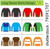 Shirt long sleeves. vector template design - stock photo
