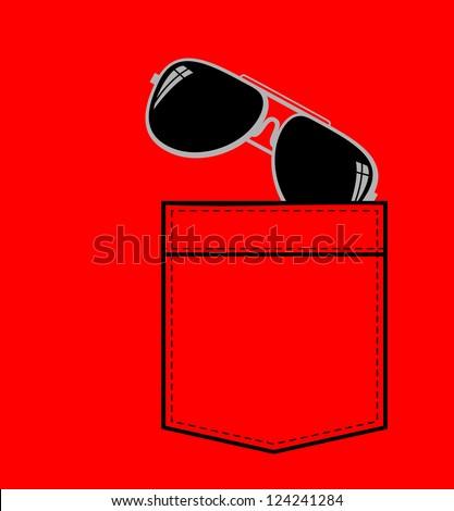 shirt pocket sun glasses stock vector 124241284 - shutterstock