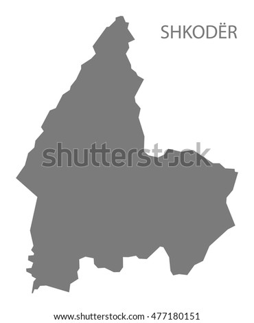 Shkoder Albania Map Grey Stock Vector 477180151 Shutterstock