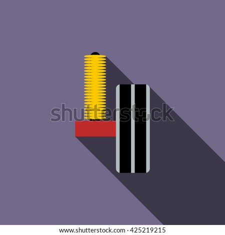 Shock absorber icon - stock vector