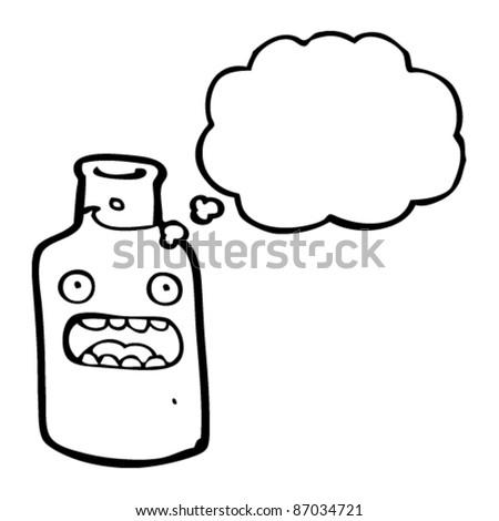 shocked bottle cartoon - stock vector