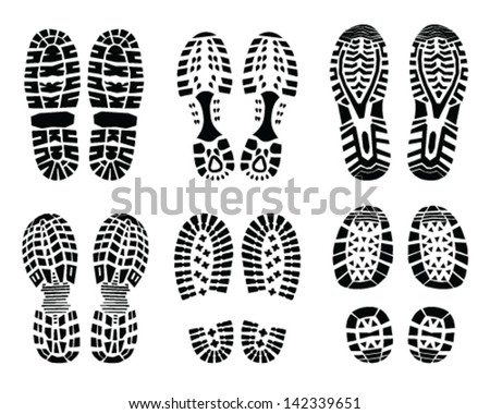 Shoe print-vector Illustration - stock vector