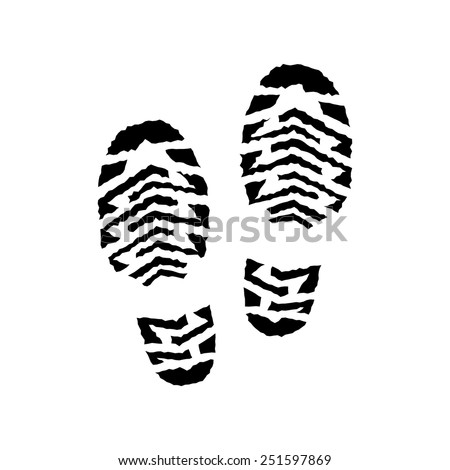track shoe silhouette running shoe print stock images royalty free images 2943