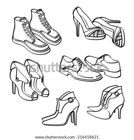 Shoes Collection - stock vector