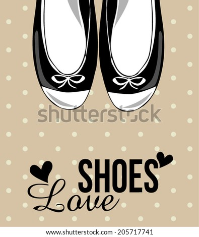 shoes fashion - stock vector