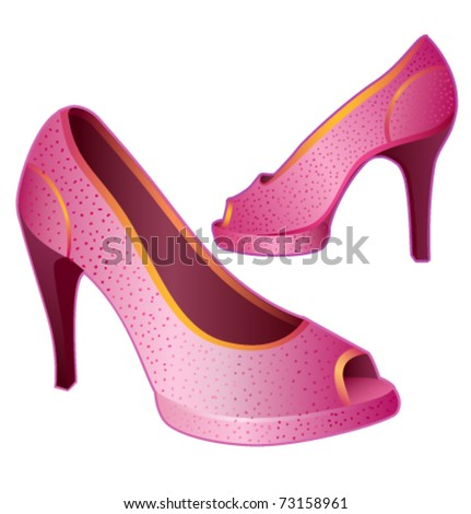 Shoes for lady pink vector illustration