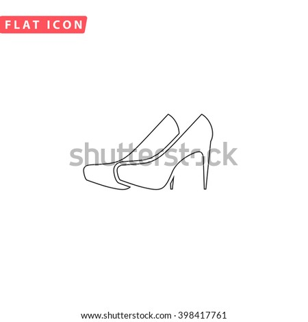 Shoes Icon Vector.
