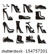 Shoes icons Vector Format - stock vector