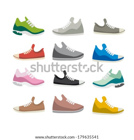Shoes sport - stock vector