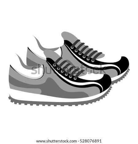 shoes tennis isolated icon