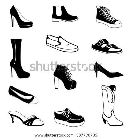 Shoes #2 vector - stock vector
