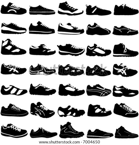 shoes vector (fashion, sport, street, different style) - stock vector
