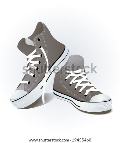 Shoes, vector illustration, EPS file included - stock vector