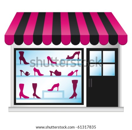 Shoeshop illustration. Vector icon. - stock vector