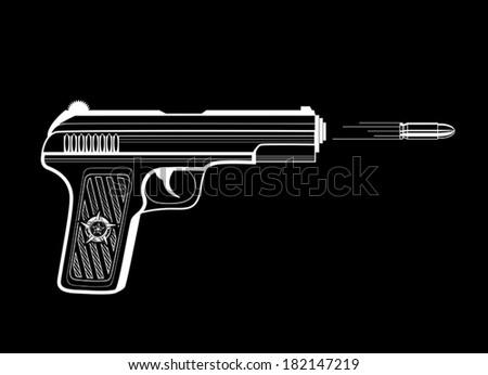 Shooting gun - stock vector