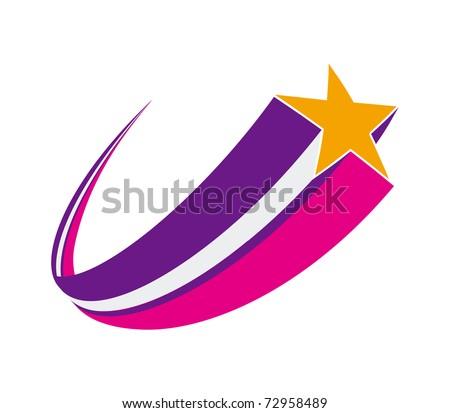 shooting star - stock vector
