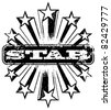 Shooting star banner. Vector illustration. - stock photo