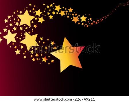 shooting star comet vector illustration - stock vector