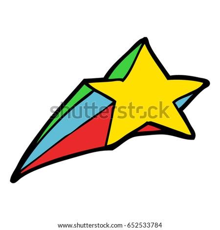 shooting star decorative cartoon stock vector 652533784 shutterstock rh shutterstock com Cartoon Sun Clip Art Star Shapes Clip Art