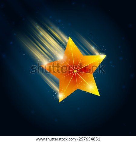 shooting stars , flying stars, on a white background - stock vector