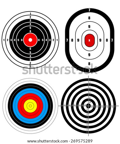Shooting target - stock vector