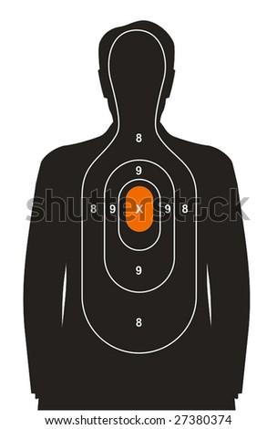 Shooting target - stock vector