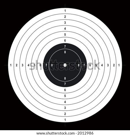 Shooting target. Vector. - stock vector