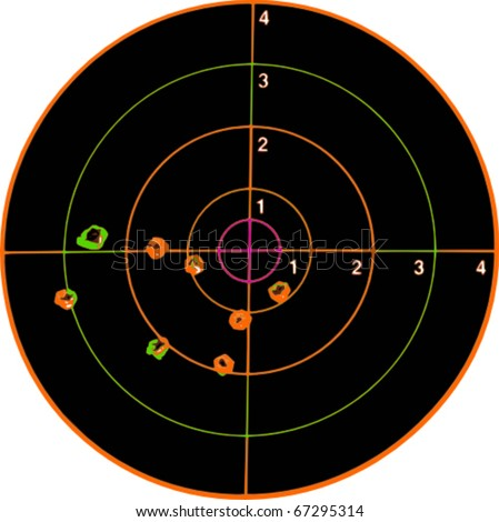 shooting target with bullet holes (vector)