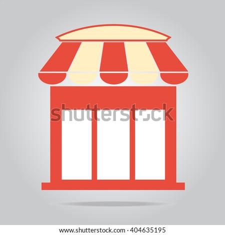 Shop building icon sign, vector illustration - stock vector