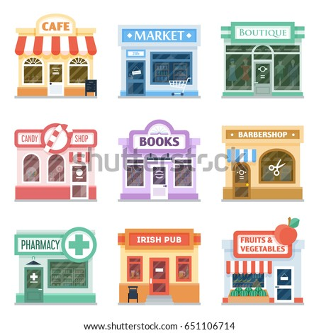 Shop Front Design Ideas Collection Retail Stock Photo (Photo, Vector ...