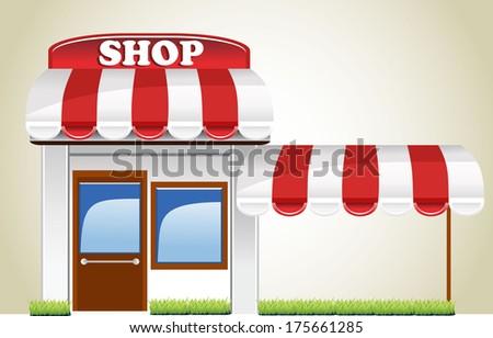 shop icon - stock vector
