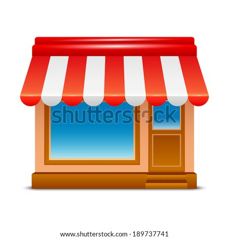 Shop icon - stock vector