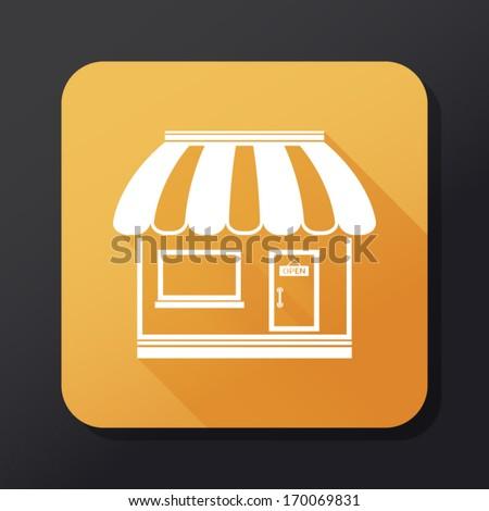 Shop icon - flat design - stock vector