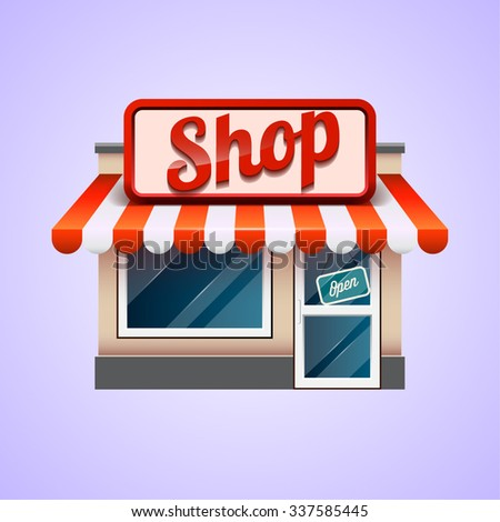 Shop icon. Store - stock vector