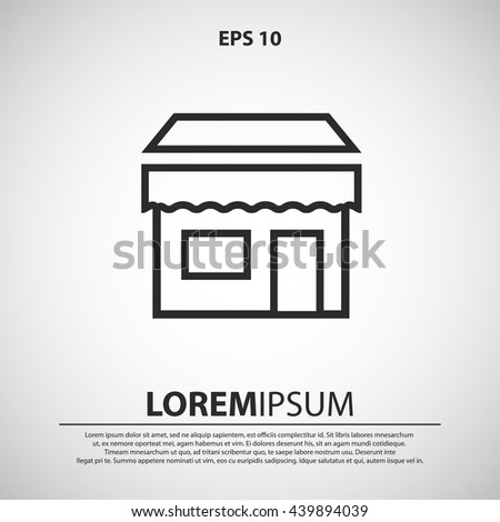 shop line icon - stock vector