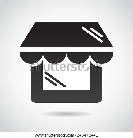 Shop window icon isolated on white background. Vector illustration. - stock vector