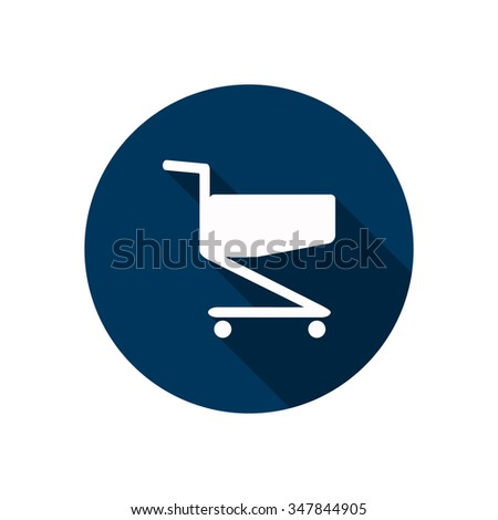 Shoping basket icon, vector illustration. Flat design style