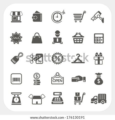 Shopping and Finance icons set - stock vector