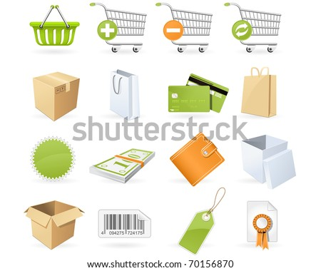 Shopping and retail icons - stock vector