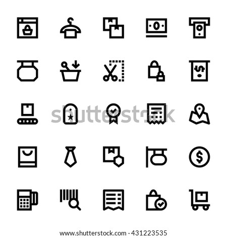Shopping and Retail Vector Icons 2 - stock vector