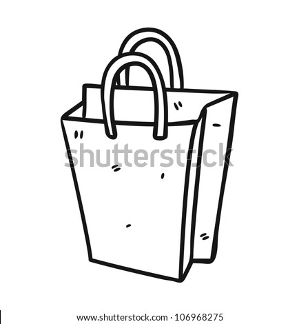 shopping bag - stock vector