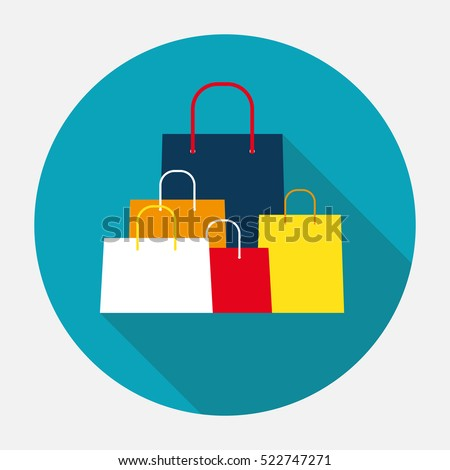 Shopping Bag Design Icon. Vector Illustration EPS10