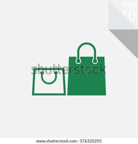 Shopping bag icon. - stock vector