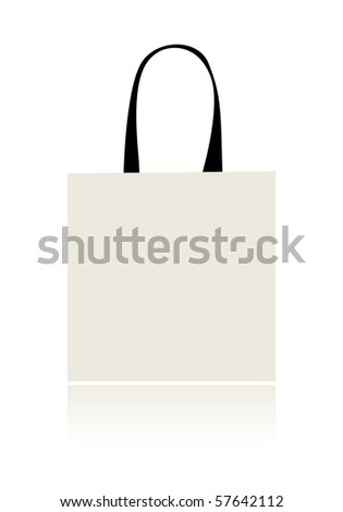 Shopping bag isolated for your design - stock vector