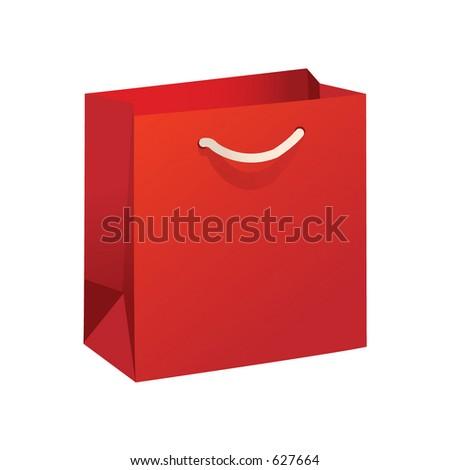 Shopping Bag - Vector - stock vector