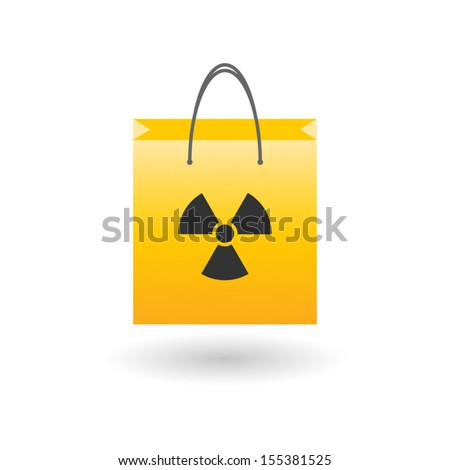 Shopping bag with icon concept illustration - stock vector