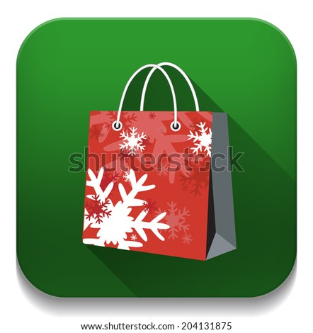 Christmas Shopping Bag Tag Over White Stock Vector 86754655 ...